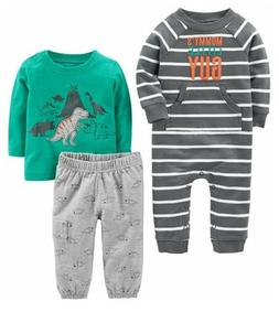 Simple Joys by Carter's Boys Baby 3-Piece Playwear Set 12 Mo