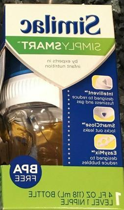 Similac Simply Smart Bottle 4oz Level 1 Slow Flow Nipple Cle