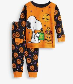 PEANUTS SNOOPY HALLOWEEN BABY PAJAMAS SIZE 9 12 18 24 MONTHS