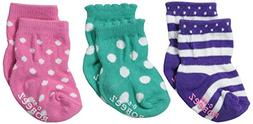 Infant Girl's Robeez 'Color Box' Socks, Size 6-12months - Gr