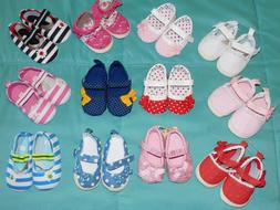 ENHANCE HER OUTFIT SOFT FABRIC BABY SHOES  FIRST WALKERS 0-6