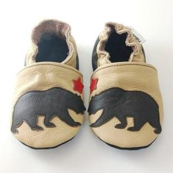 Soft Sole Leather Baby Shoes Crib Shoes First Walker Shoes T