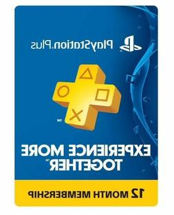 Sony PlayStation Plus 1 Year Membership Subscription Card
