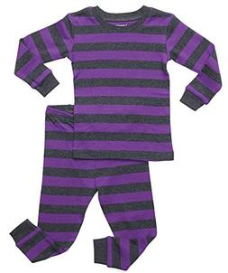 Leveret Striped 2 Piece Pajama Set 100% Cotton