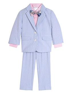Nautica Baby Boys Suit Set with Jacket, Pant, Shirt, and Tie