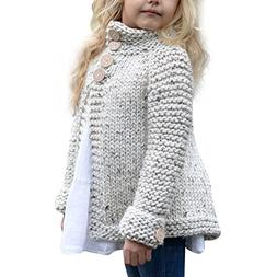 FTXJ Sweater Coat Children Kids Baby Girls Outfit Button Kni