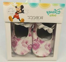 Robeez SZ 12-18 Months Baby Girl Disney Soft Leather Shoes F