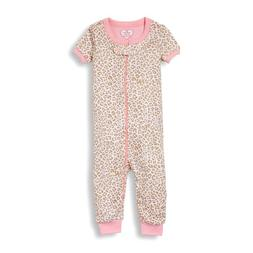 TCP BABY GIRL 1PC LEOPARD FOOTLESS STRETCHIE ROMPER PJS 6-9