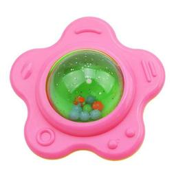 Teether Baby Toy Rattle Ring Toys Tooth Bell Infant Newborn