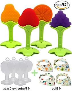 Kidsky Baby Teething Toys, Soft Silicone Natural FDA Approve