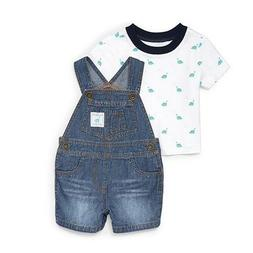 THE CHILDREN'S PLACE Baby Boy's Dinosaur Shortalls Outfit Mo