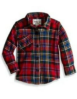 The Children's Place Baby Boys' Long Sleeve Flannel Shirt 12