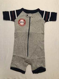 The Children's Place Baby Short Sleeve One-Piece Pajamas,H/T