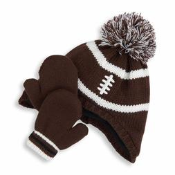 The Children's Place Football Pom Pom Hat And Mitten Set Siz