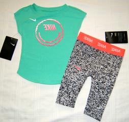 THE NIKE TEE T Shirt & Dri Fit Leggings Outfit Baby Girl 12