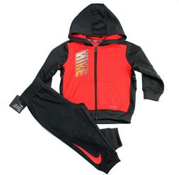 Nike Therma Baby Boy 2 Piece Jogger Set Hoodie/Pants Black O