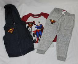 Toddler 3 Piece Superman Outfit Sizes 12 Months & 3T NEW!