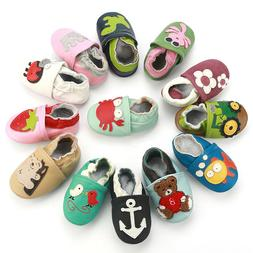 Toddler Baby First Walkers Shoes Slippers Genuine Leather Bo