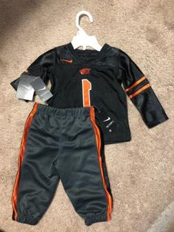 NIKE  TODDLER BABY OREGON ST FOOTBALL UNIFORM OUTFIT NEW 12M