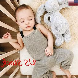 Toddler Baby Unisex Knitted Bodysuit Boy Girls Jumpsuit Clot