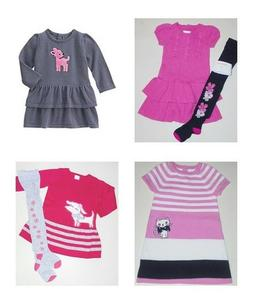 Gymboree Toddler Girls Winter Sweater Dress Tights 12-18 Mon