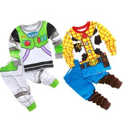 Toddler Kid Boy Baby Toy Story Buzz Lightyear Woody Sleepwea