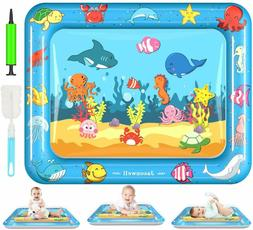 Tummy Time Water Mat Baby Toys 3 6 9 12 Months Old 30X24 Inc