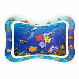 Tummy Time Water Mat, Baby Toys for 3, 6, 9, & 12+ Month