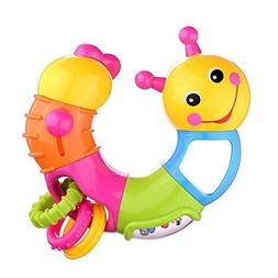 AT-Mizhi Twist and Play Caterpillar Rattle Lovely Worm Rattl