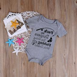 Unisex Newborn Baby Boy Girl Romper Bodysuit Summer Funny Cl