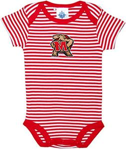 Creative Knitwear University Of Maryland Terps Striped Newbo