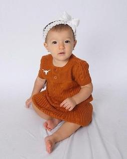 University of Texas Toddler Sweater Dress, Size 12 months-4T