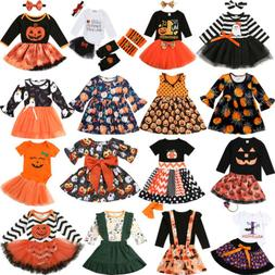 US Halloween Baby Girl Clothes Party Costume Bodysuit Ruffle