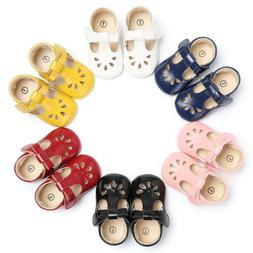 US Newborn Baby Crib Infant Toddler Girl Leather Moccasins S