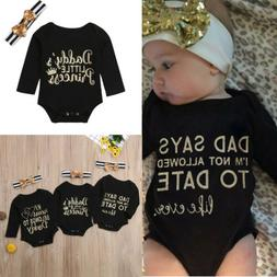 US Newborn Infant Baby Girls New Summer Rompers Clothes Outf