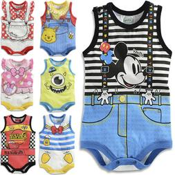 US Newborn Infant Kid Baby Boy Girl Romper Bodysuit Jumpsuit