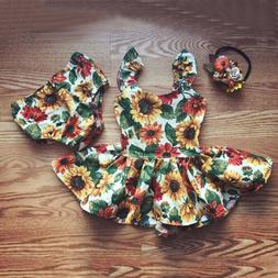 us newborn kids baby girl flower outfit