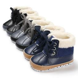 USA Infant Toddler Shoes Baby Boy Ankle Snow Boots Crib Shoe