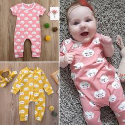 USA Newborn Infant Baby Kids Boy Girl Summer Romper Jumpsuit