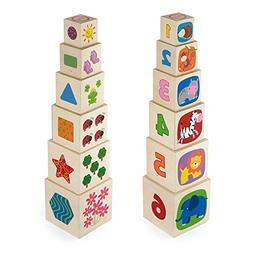 Viga Original Educational Toy Nesting and Stacking Wooden Bl