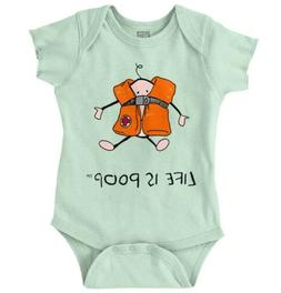 Life is Poop Water Vest Funny Cool Baby Gift Edgy Cute Irony