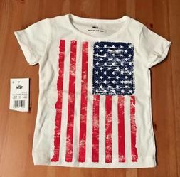 white with american flag 12 month short