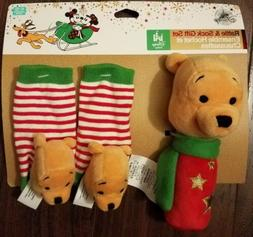Disney Store Winnie the Pooh Holiday Rattle & Sock Set Baby