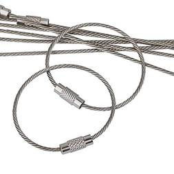 Pawfly 20 pcs Wire Keychain Cable 4 Inch Stainless Steel Key