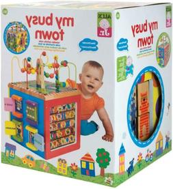 Wooden Activity Cube My Busy Town Kids Art & Craft Playset A
