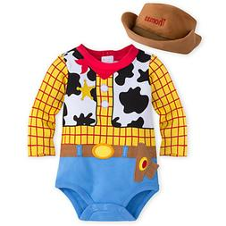 Disney Store Woody Baby Dress Up Costume Halloween Bodysuit