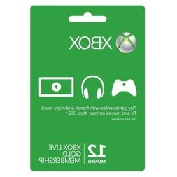 Xbox One/360 Live 12-Month Gold Prepaid Subscription Card Co