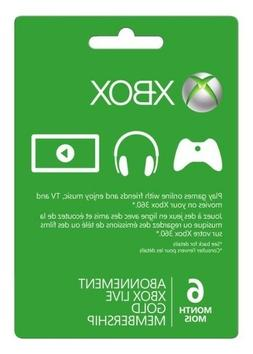 xbox 360 one live 6 month gold