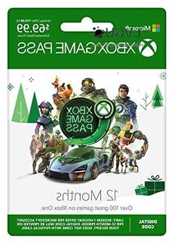 Xbox Game Pass: 12 Month Membership  For Instant Access Gami