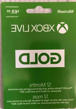 Microsoft Xbox LIVE 12 Month Gold Membership Card for Xbox 3